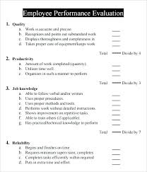 Performance Reviews Samples Employee Performance Evaluation Samples Juanbruce Co
