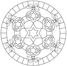 Mandala Kleurplaten Kerst