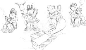 Small Picture Lego Ghostbusters The Video Game A sketched out concept