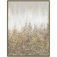 30x40 gold glitter abstract framed