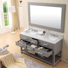 60 double sink bathroom vanities. Cadale 60 Inch Gray Finish Double Sink Bath Vanity Bathroom Vanities
