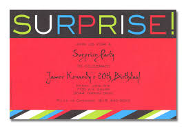 Red Surprise Birthday Party Invitations Free Printable