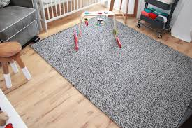 animal nursery handmaidtales the rug is also from ikea it s 100 wool and does a great job hiding animal hair i added an extra squishy rug pad