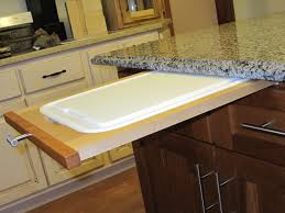 Chopping Table Kitchen How To Install A Pull Out Cutting Board In Kitchen Cabinet