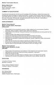 Sample Medical Transcription Cover Letter Office Manager Job
