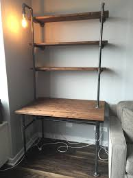 office shelving units. Wall Units, Shelving Unit With Desk Shelves On Side Industrial Pipe Office Units