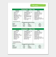 Diet Chart In Marathi Pdf Diet Chart Template 20 Free Meal Charts