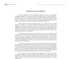 sample short essay on euthanasia