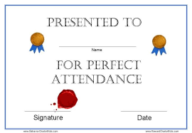 free perfect attendance certificate free printable perfect attendance certificate template photo