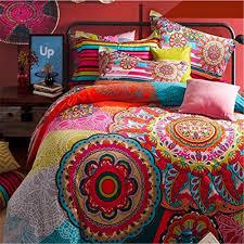 fadboho style bedding sets boho duvet cover set bohemian bedding set queen size cotton bed flat sheet bedclothes duvet comforter cover full size bedding