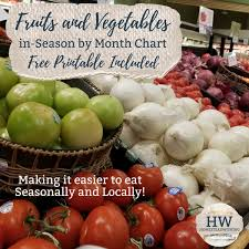 Vegetables Chart Fruits And Vegetables In Season By Month Chart Florida