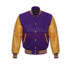 letterman jacket purple w yellow leather sleeves 213 1