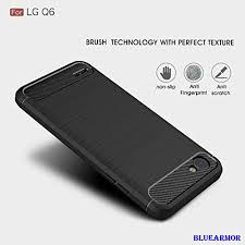 lg q6 phone case. bluearmor armor shock proof brushed back cover case for: amazon.in: electronics lg q6 phone