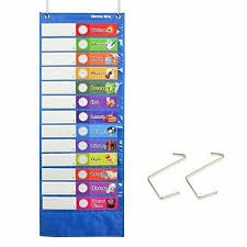 Scholastic Daily Schedule Pocket Chart Youngever Classroom Pocket Chart 13 1 Pocket Daily Schedule