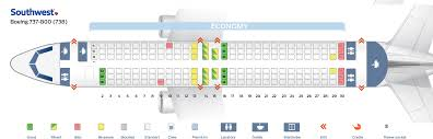Seat Map Boeing 737 800 Southwest Airlines Best Seats In Plane