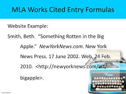 Two Components For Mla Citations Ppt Download