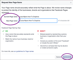 how to change your facebook page name step 2 fill in your new name and