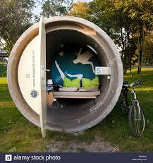 Inflatable Concrete Park Hotel Concrete Pipe For Spending The Night Germany North