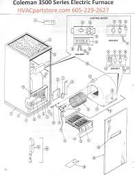 3500 818 coleman electric furnace parts tagged coleman click here to view an installation manual which includes wiring diagrams