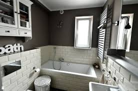 bathroom tile grey subway. Homey Bathroom With Subway Tiles Tile Grey G