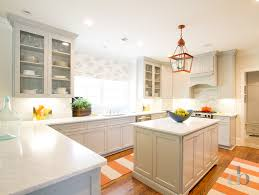 Gray Kitchen with Orange Accents