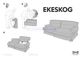 read ikea ekeskog sofa bed cover assembly instruction