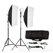led photography softbox light lighting kit photo equipment soft studio light softbox
