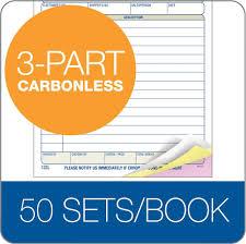 packing slip book part carbonless st bk