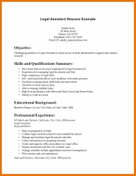 Resume Objective For Legal Assistant Paralegal Resume Objective Example Legal Receptionist Marvelous I 10