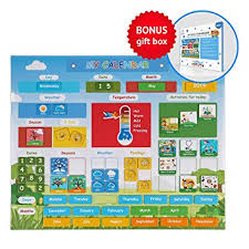Simply Magic Kids Calendar My First Daily Magnetic Calendar For Kids Amazing Preschool Learning Toys For Toddlers Preschool Classroom Calendar