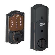 schlage locks. Schlage Camelot Aged Bronze Sense Smart Lock Locks
