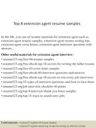 Extension Agent Sample Resume top224extensionagentresumesamples224lva224app622492thumbnail24jpgcb=2242432732402224 1