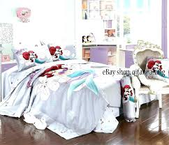 little mermaid bed sheets bedding for s unique twin set with additional