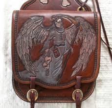 custom made custom leather motorcycle saddle bags