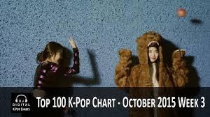 Top 100 K Pop Songs Chart October 2015 Week 3