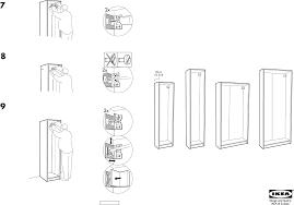 Ikea Instruction Manuals Ikea Storage Furniture Pax Wardrobe Frame 20x14x79 Pdf Assembly