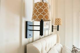flat black bedside lamps are perfect for the farmhouse