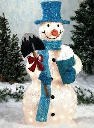 Pretty Outdoor Snowman Decorations Decor Creative Led For Christmas