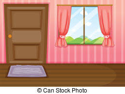 closed window clipart. a window and door - illustration of in. closed clipart