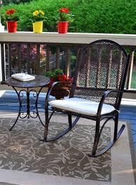 The <b>Garden Rocking Chair</b> and Side Table <b>2</b>-Piece Set   Tortuga ...