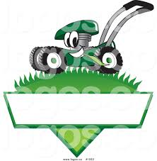 blank lawn care logos. royalty free cartoon vector logo of a green lawn mower mascot mowing grass over blank care logos logos.co