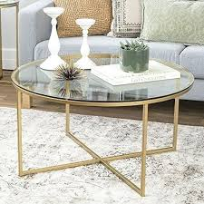 gold and glass coffee table glass coffee table gold frame glass round metal coffee table modern