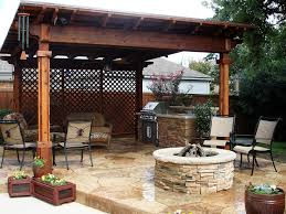 Covered patio with fire pit Small Bmr Pool And Patio Outdoor Arbor Cover Firepitjpg Bmr Pool And Patio Outdoor Living Bmr Pool Patio