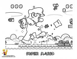 Super Mario Brothers Coloring Pages New Super Mario Bros Coloring