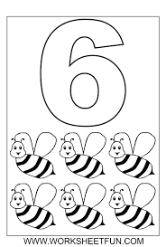 Numbered Coloring Pages Coloring Pages Pages Preschool Worksheets ...