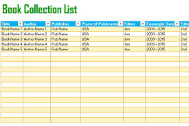 Book Tracking List Template (For Excel®) - Dotxes