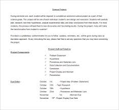 Science Fair Templates Project Outline Template 8 Free Word Excel Pdf Format Download