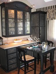 Classic Black Hard Wood Kitchen Dining Room Corner China Cabinet - Dining room corner hutch