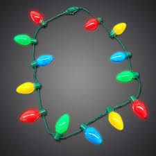 Battery Christmas Light Necklace Led Christmas Bulb Necklace