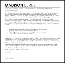 F Fancy Foreign Language Teacher Cover Letter Resume Cover Letter